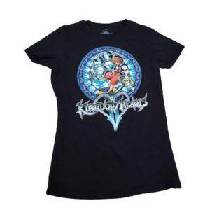 Kingdom Hearts Black Short Sleeve Anime T-shirt